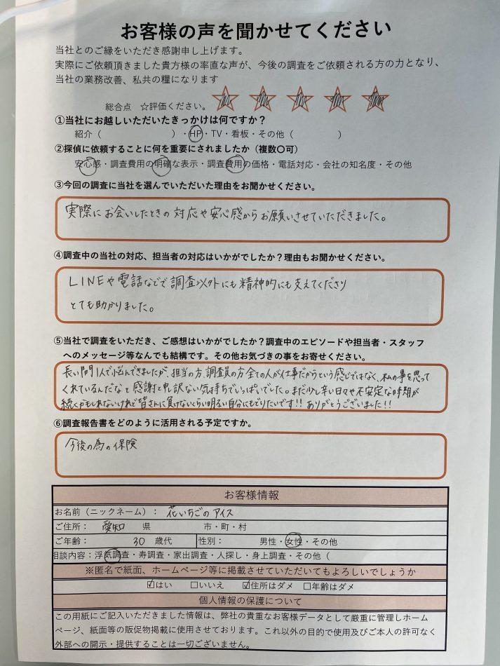 モラハラ夫 浮気夫 愛知県名古屋市 探偵 浮気調査