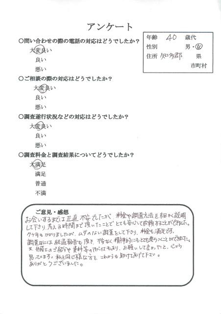愛知県知多郡 夫浮気調査 探偵 楓女性調査事務所 口コミ