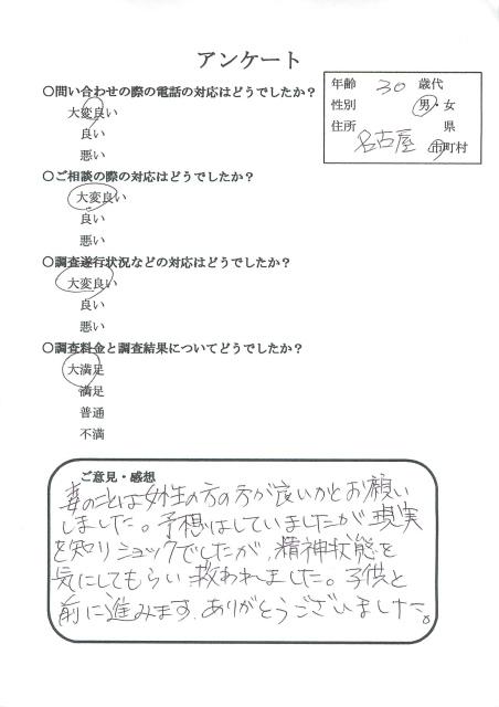 妻浮気調査 愛知県名古屋市 楓女性調査事務所 探偵 口コミ